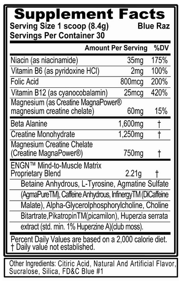 ENGN Supplement Facts