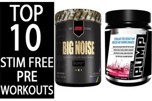 top 10 stim free pre workout supplements