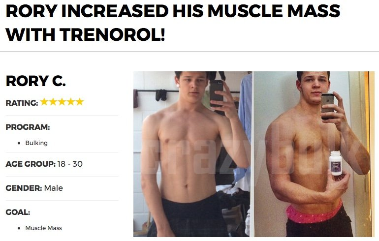 trenorol before and after photo results