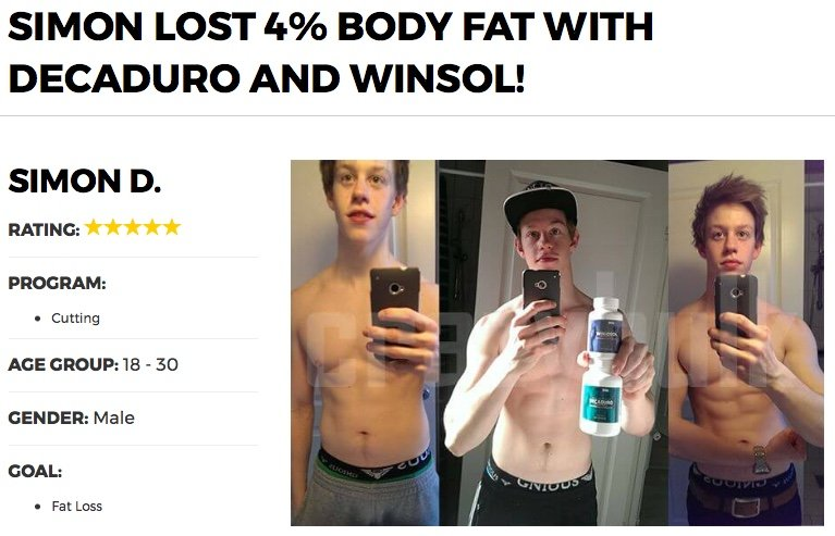 Winsol before and after photo results
